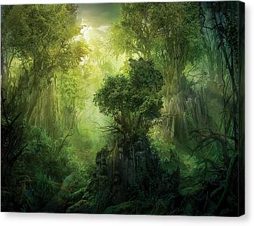 Llanowar Reborn Canvas Print by Philip Straub