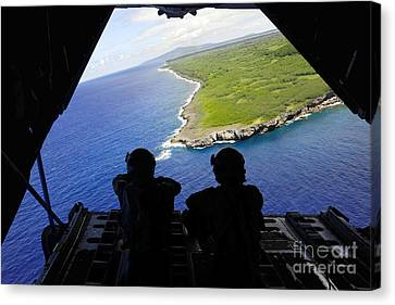 Loadmasters Look Out Over Tumon Bay Canvas Print by Stocktrek Images