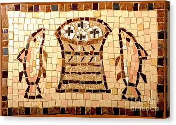 Loaves And Fishes Mosaic Canvas Print by Lou Ann Bagnall