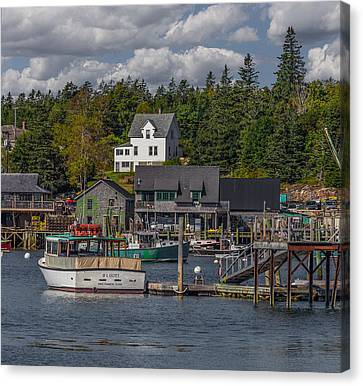 Lobster Fishing Boats Canvas Print by Capt Gerry Hare
