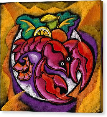 Lobster Canvas Print by Leon Zernitsky