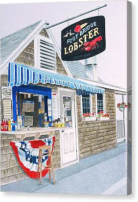 Lobster Shack Canvas Print by Glenda Zuckerman