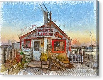 Lobster Shack Pencil Canvas Print by Edward Fielding