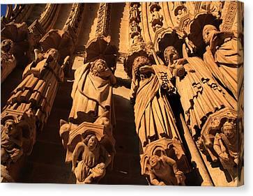 Local Saints At The Western Entrance Canvas Print by Aidan Moran