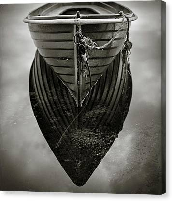 Boat Reflection Canvas Print by Dave Bowman