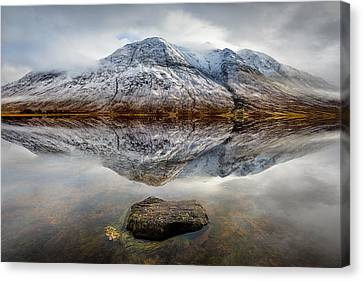 Loch Etive Reflection Canvas Print by Dave Bowman
