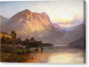 Loch Lomond And A Trout Stream Near Stirling Canvas Print by Celestial Images