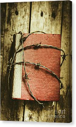 Locked Diary Of Secrets Canvas Print by Jorgo Photography - Wall Art Gallery