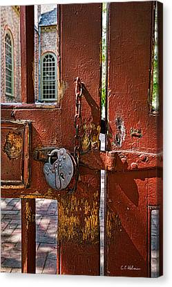 Locked Gate Canvas Print by Christopher Holmes