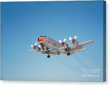 Lockheed L-188b Electra American Airlines Aal Canvas Print by Wernher Krutein
