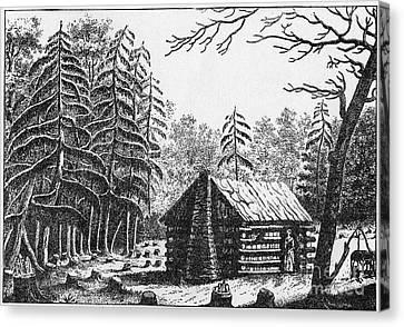 Log Cabin, 1826 Canvas Print by Granger