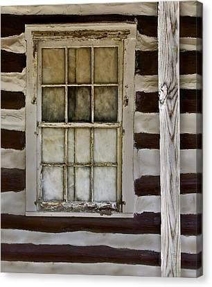 Log Cabin Window Canvas Print by Murray Bloom