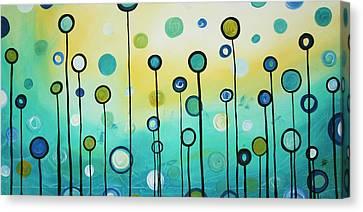 Lollipop Field By Madart Canvas Print by Megan Duncanson