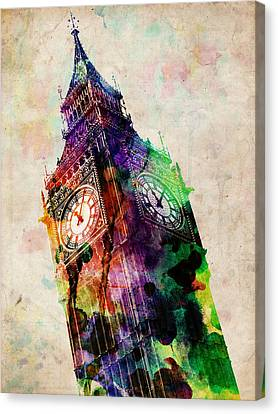 London Big Ben Urban Art Canvas Print by Michael Tompsett