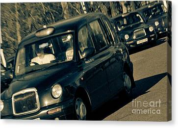 London Black Taxi Cabs Canvas Print by Andy Smy