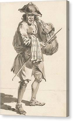 London Cries - A Man With A Bundle, Old Clothes Canvas Print by Paul Sandby