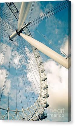 London Eye Ferris Wheel Canvas Print by Andy Smy