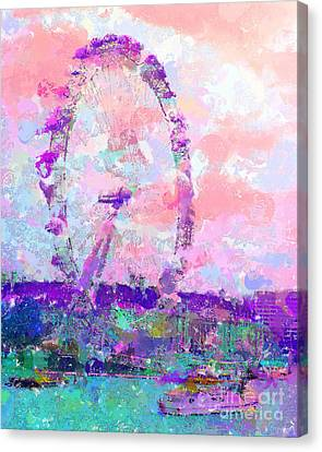 London Eye Canvas Print by Marilyn Sholin