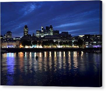 London Lights Canvas Print by Terence Davis