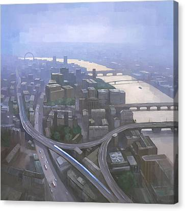 London, Looking West From The Shard Canvas Print by Steve Mitchell