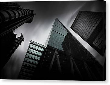 London Skyscrapers Canvas Print by Ian Hufton