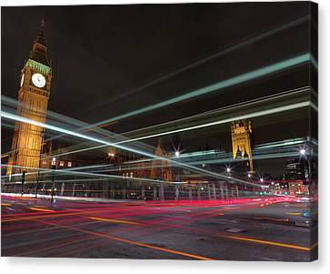 London Traffic Canvas Print by Mark A Paulda