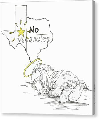 Lone Star State Of Fear Canvas Print by Steve Hunter