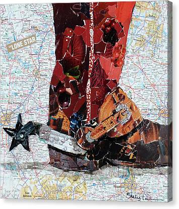 Lone Star Spur Canvas Print by Suzy Pal Powell