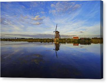 Lone Windmill Canvas Print by Chad Dutson