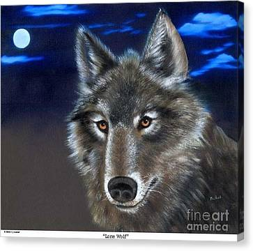 Lone Wolf Canvas Print by RJ McNall