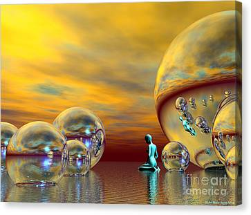 Loneliness Canvas Print by Sandra Bauser Digital Art