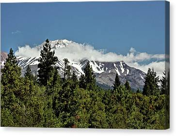 Lonely As God And White As A Winter Moon - Mount Shasta California Canvas Print by Christine Till