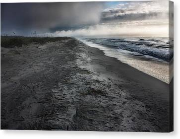 Lonely Beach Canvas Print by Matt  Trimble