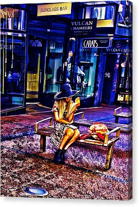 Lonely Girl Canvas Print by Nenad Cerovic