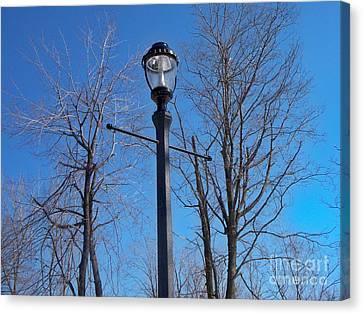 Lonely Lamp Post Canvas Print by Deborah MacQuarrie