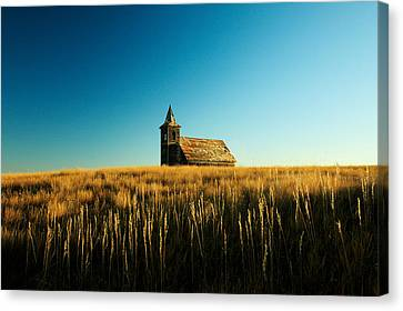 Lonely Old Church Canvas Print by Todd Klassy
