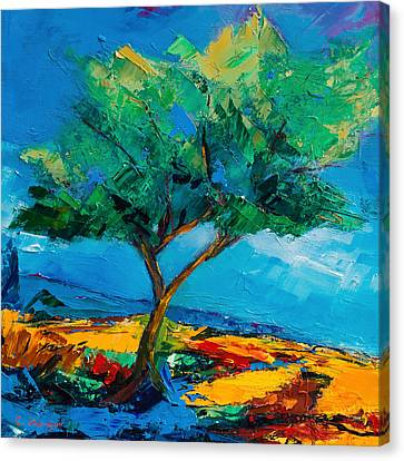 Lonely Olive Tree Canvas Print by Elise Palmigiani