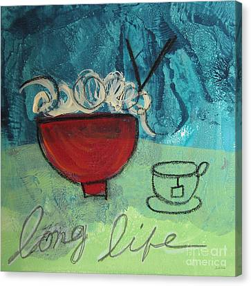 Long Life Noodles Canvas Print by Linda Woods