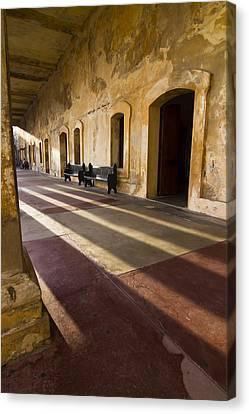 Long Shadows In San Cristobal Canvas Print by Sven Brogren
