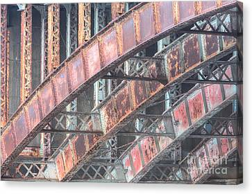 Longfellow Bridge Arches I Canvas Print by Clarence Holmes