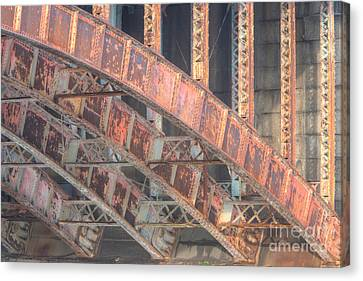 Longfellow Bridge Arches IIi Canvas Print by Clarence Holmes