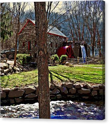 Longfellow's Wayside Gristmill Canvas Print by Earl Jackson