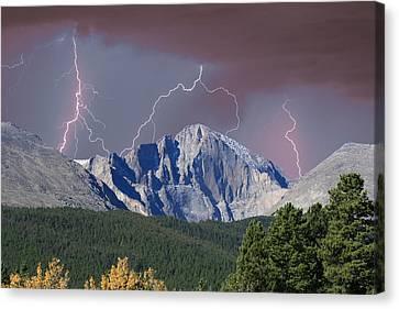 Longs Peak Lightning Storm Fine Art Photography Print Canvas Print by James BO  Insogna