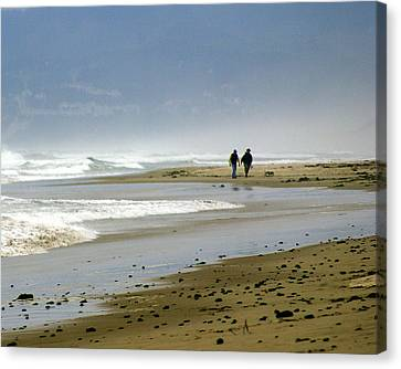 Lonly Beach Canvas Print by Marty Koch