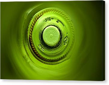 Looking Deep Into The Bottle Canvas Print by Frank Tschakert