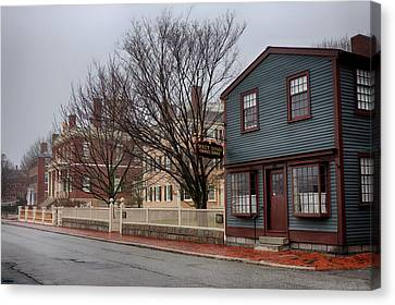 Looking Down Derby Street Canvas Print by Jeff Folger