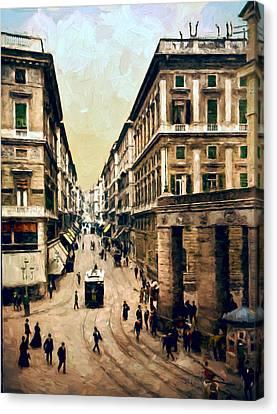 Looking Down Via Roma Canvas Print by John K Woodruff