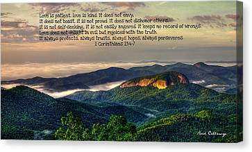 Looking Glass Rock 7 The Love Chapter Canvas Print by Reid Callaway