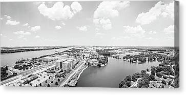 Looking North From The State Capitol Baton Rouge Panoramic  Canvas Print by Scott Pellegrin