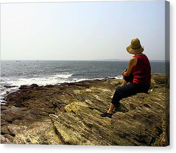 Looking Out To Sea Canvas Print by Frank Winters